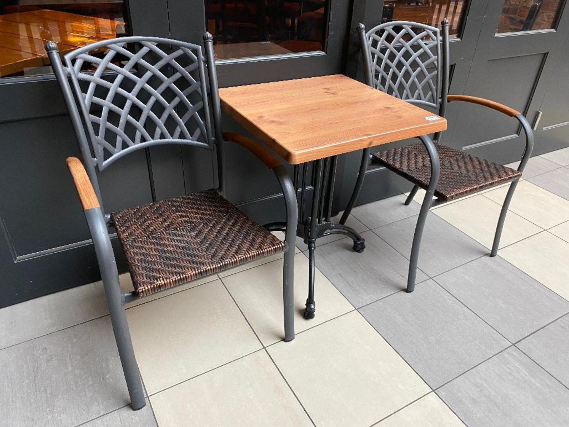 """TOPALIT 23"""" X 23"""" PATIO TABLE WITH 2 CHAIRS - Image 2 of 2"""