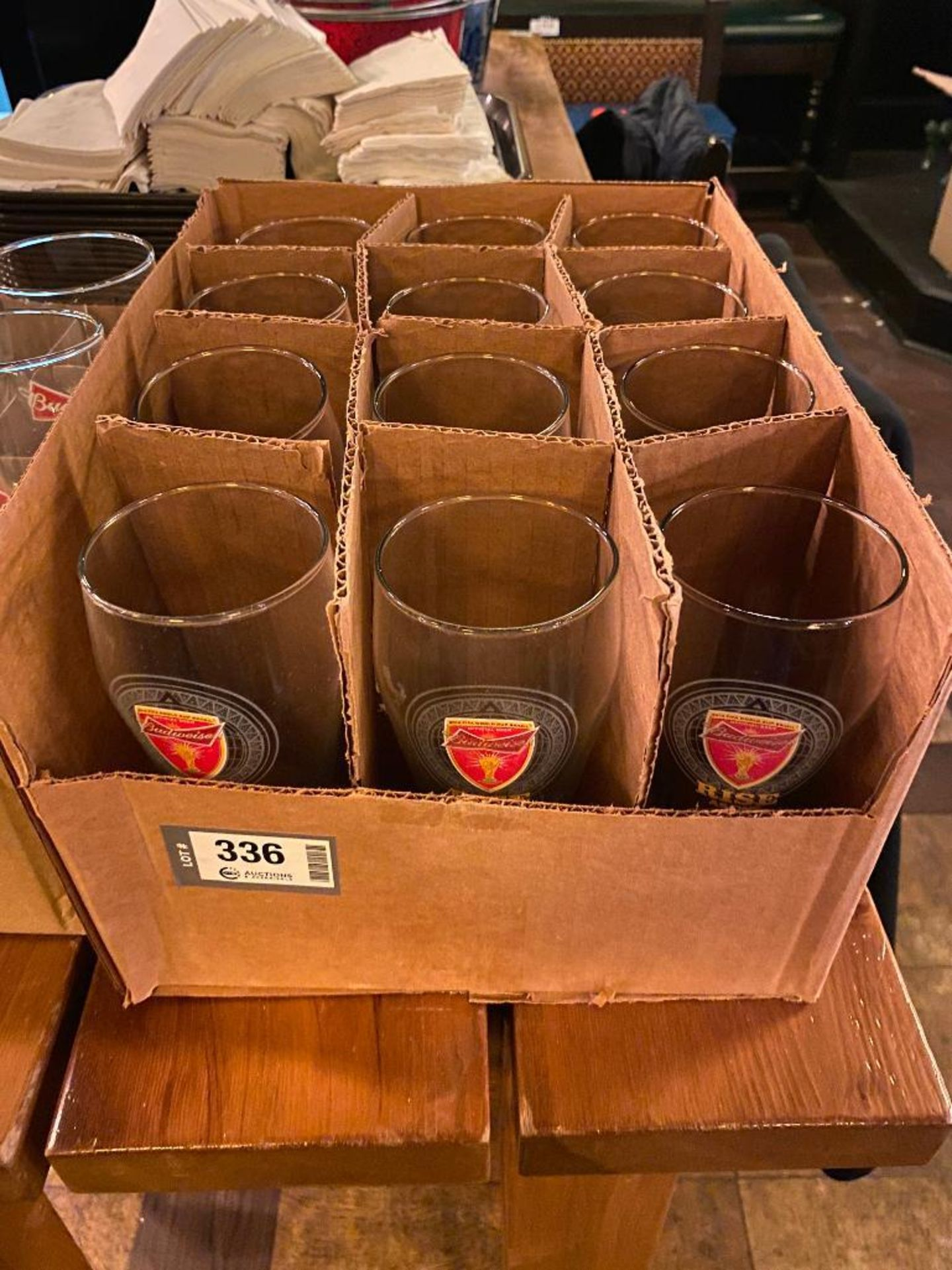 LOT OF (2) BOXES OF BUDWEISER BEER GLASSES - Image 2 of 3