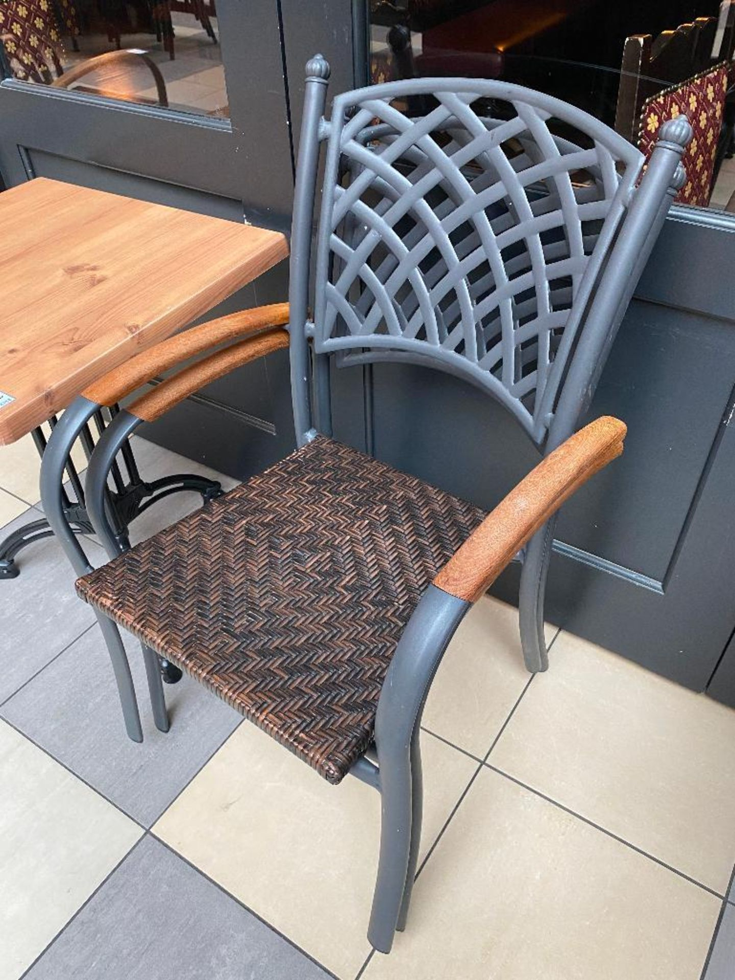 """TOPALIT 23"""" X 23"""" PATIO TABLE WITH 2 CHAIRS - Image 3 of 4"""