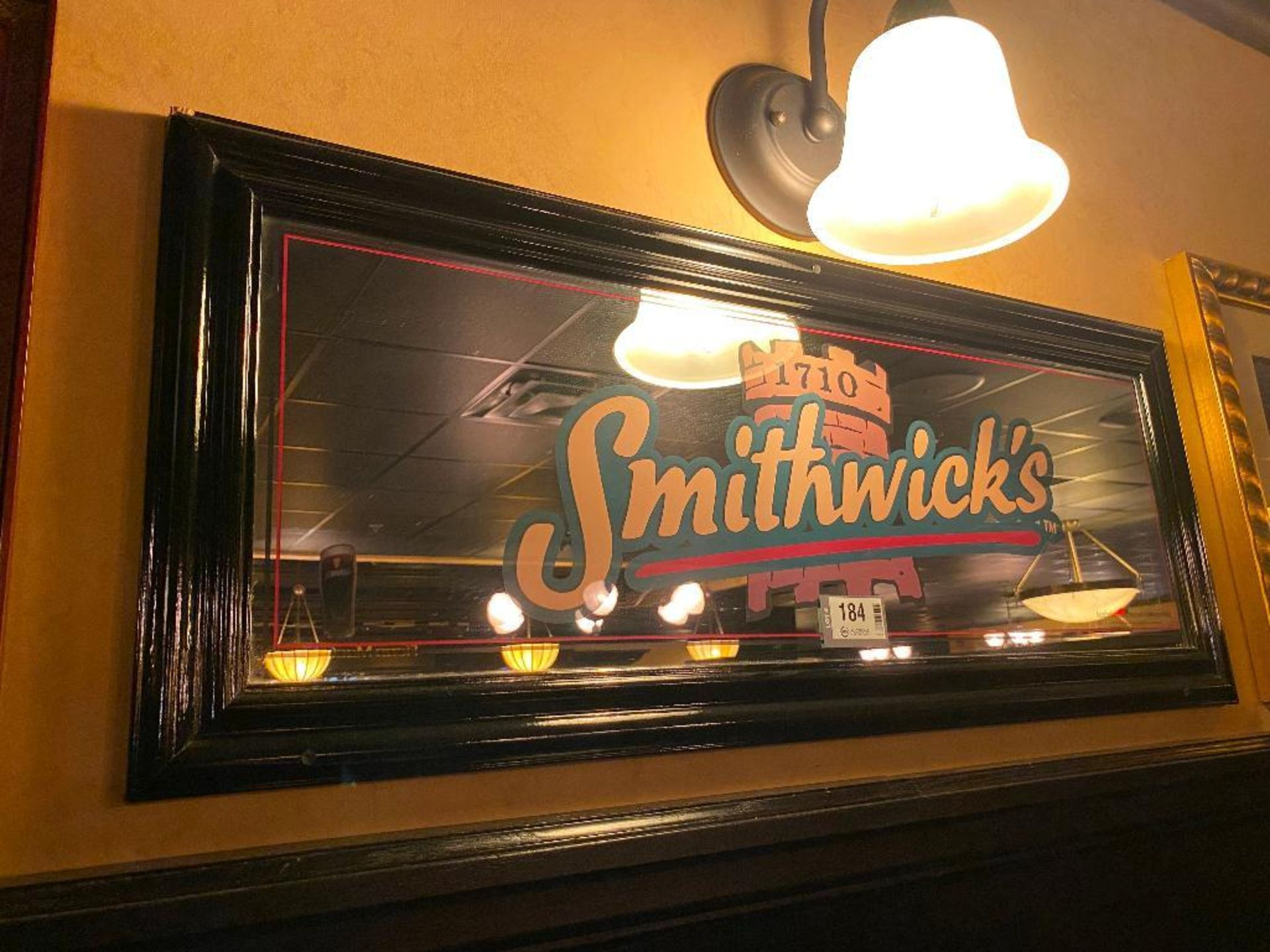 LOT OF (2) FRAMED MEMORABILIA PHOTOS & (1) SMITHWICK'S MIRROR - NOTE: REQUIRES REMOVAL FROM WALL, PL - Image 3 of 4