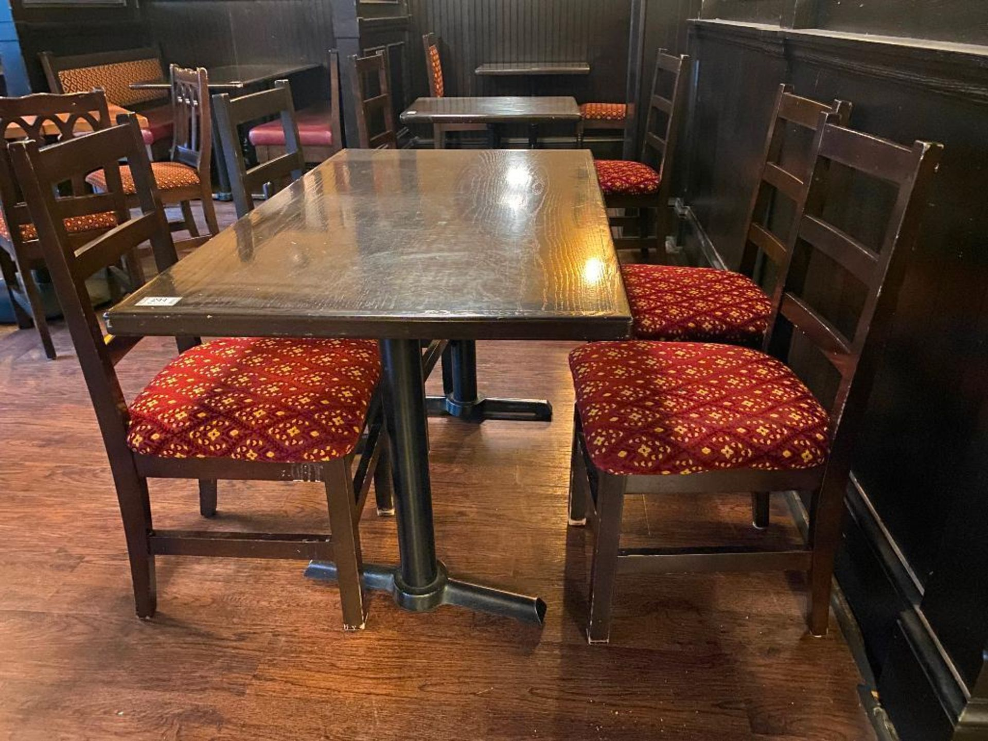 """RECTANGULAR TABLE WITH 4 CHAIRS - 54"""" X 30"""" X 30"""" - Image 3 of 3"""