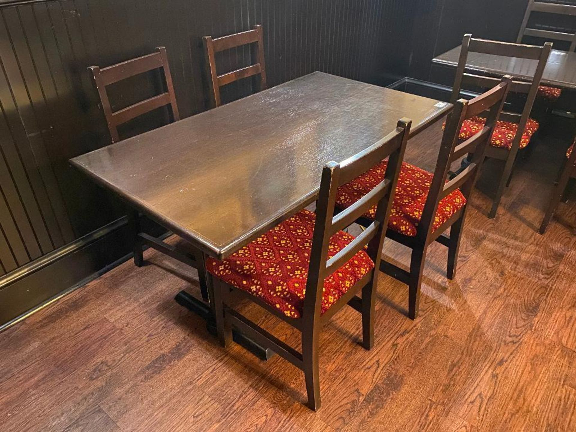 """RECTANGULAR TABLE WITH 4 CHAIRS - 53"""" X 30"""" X 30"""" - Image 2 of 2"""