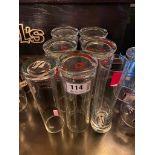 LOT OF (7) SALZBURGER STIEGL GLASSES