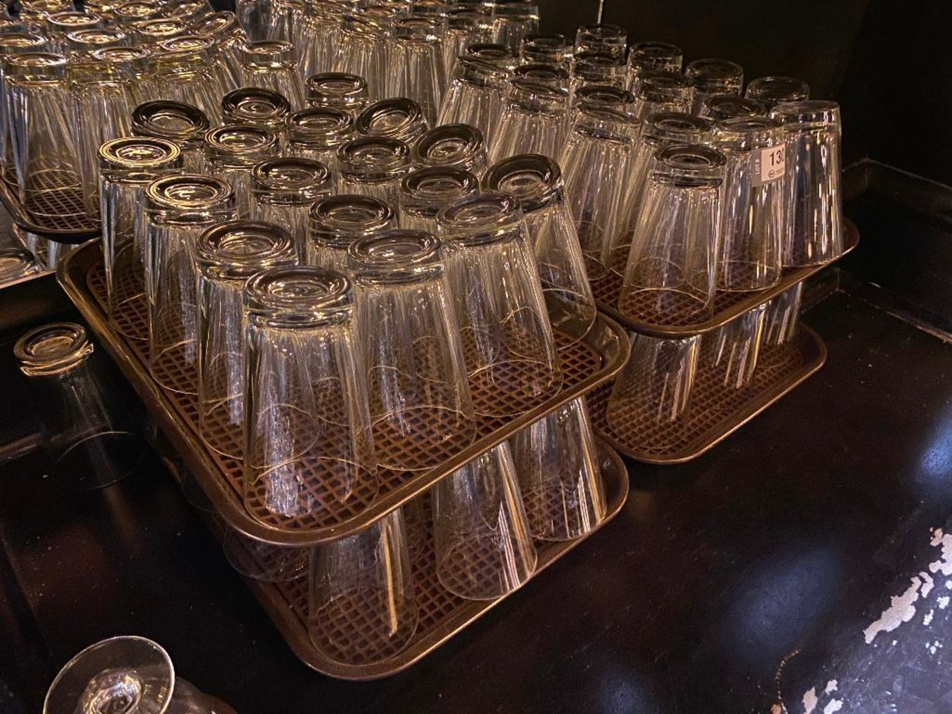 LOT OF (4) TRAYS OF WATER GLASSES - Image 2 of 4