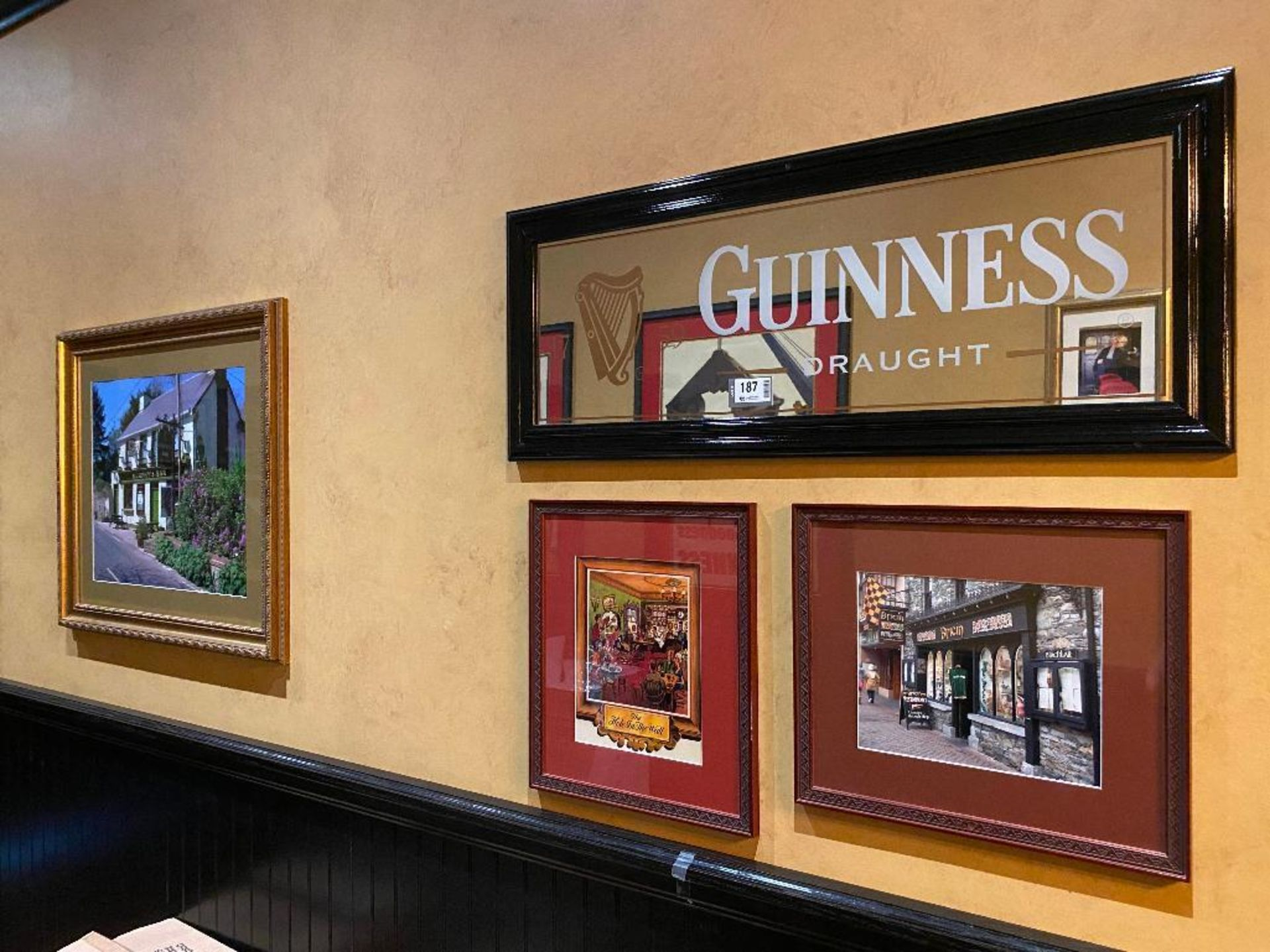 LOT OF (3) FRAMED MEMORABILIA PHOTOS & (1) GUINNESS MIRROR - NOTE: REQUIRES REMOVAL FROM WALL, PLEAS - Image 5 of 5