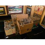 LARGE LOT OF ASSORTED BRANDED GLASSES
