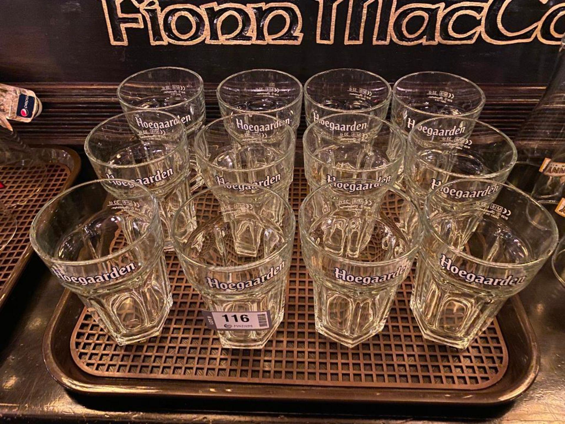 LOT OF (12) HOEGAARDEN 11 OZ GLASSES