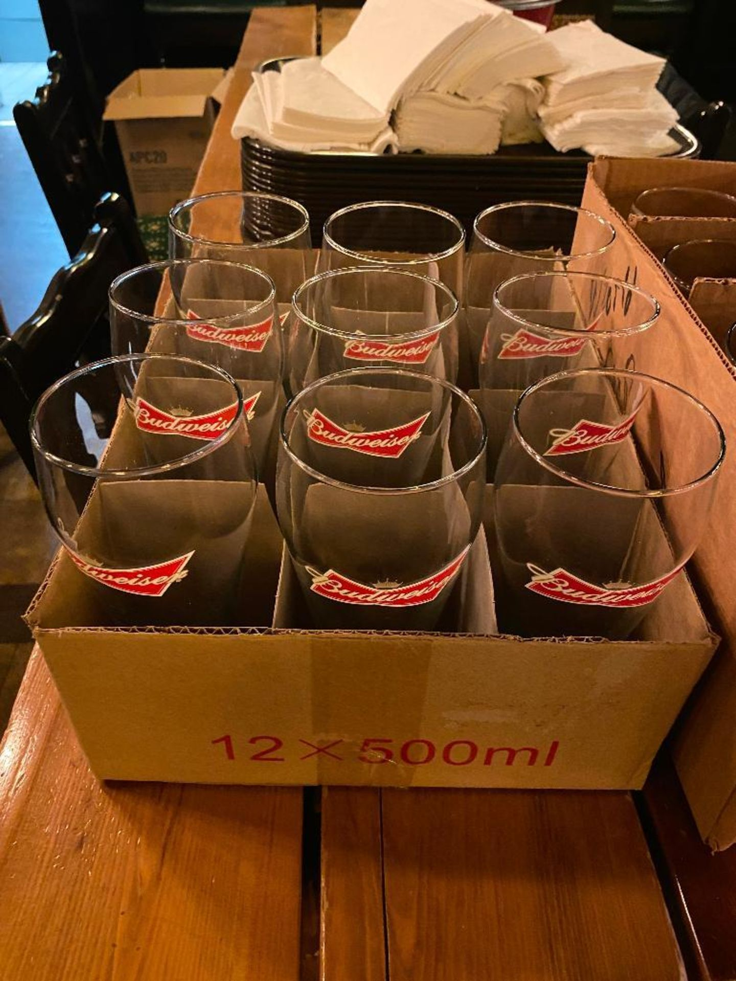 LOT OF (2) BOXES OF BUDWEISER BEER GLASSES - Image 3 of 3