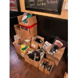LARGE LOT OF PROMOTIONAL BRANDED ITEMS INCLUDING: GUINNESS, HOP HOUSE, KRONENBOURG 1664 & MORE