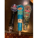 LOT OF (3) ASSORTED BEER TAPS