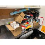 ASSORTED OFFICE SUPPLIES INCLUDING: XEROX PRINTER, PAPER, CLIPBOARDS, TILL PAPERS, BINDERS, OFFICE C