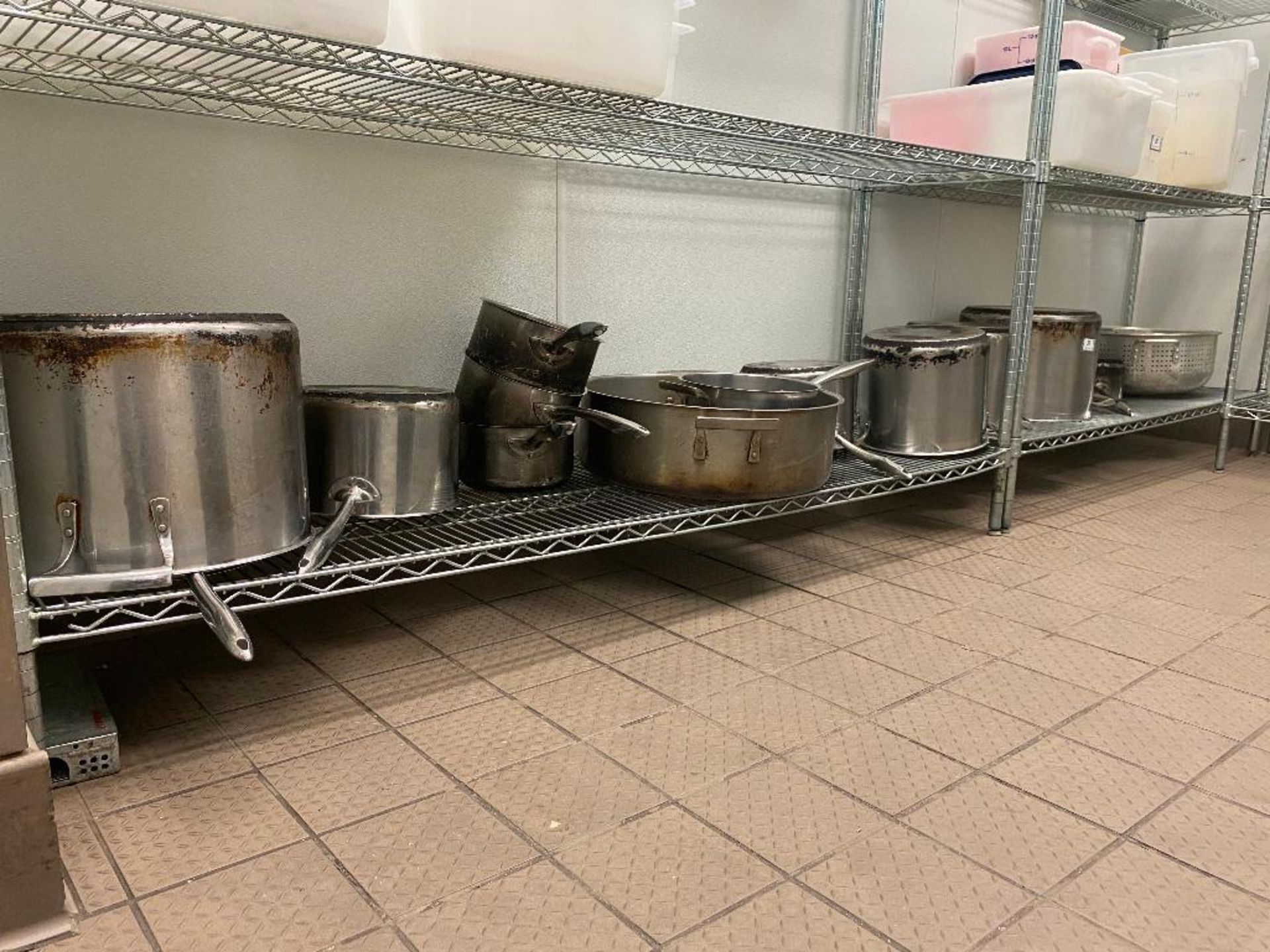 LARGE LOT OF ASSORTED SIZE SAUCE & STOCK POTS