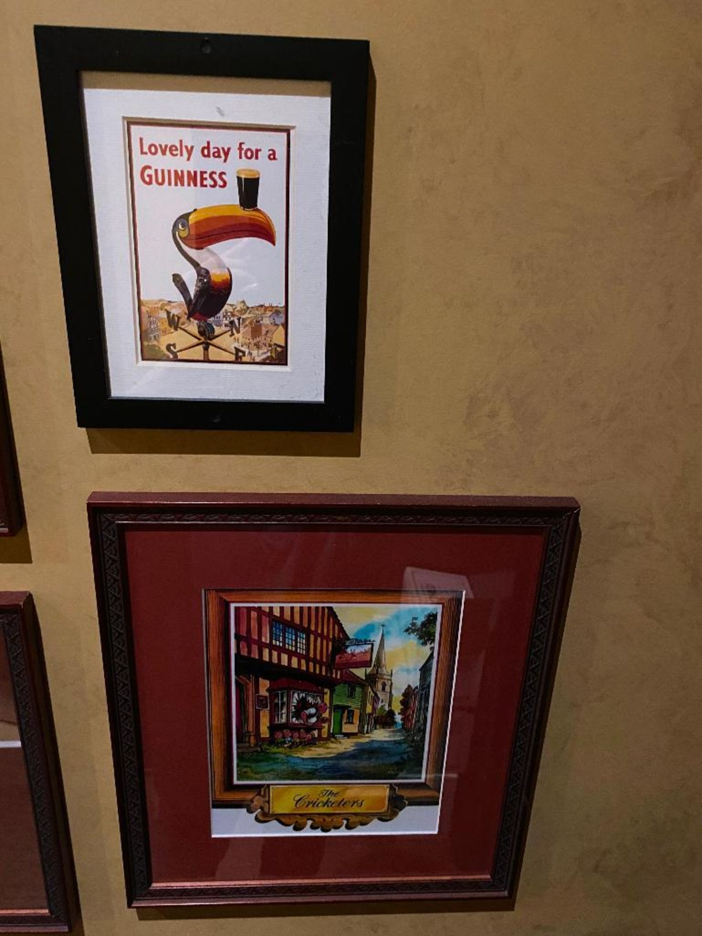LOT OF (4) FRAMED MEMORABILIA PHOTOS & (1) NEIL'S IRISH PUB PLAQUE - NOTE: REQUIRES REMOVAL FROM WAL - Image 2 of 4
