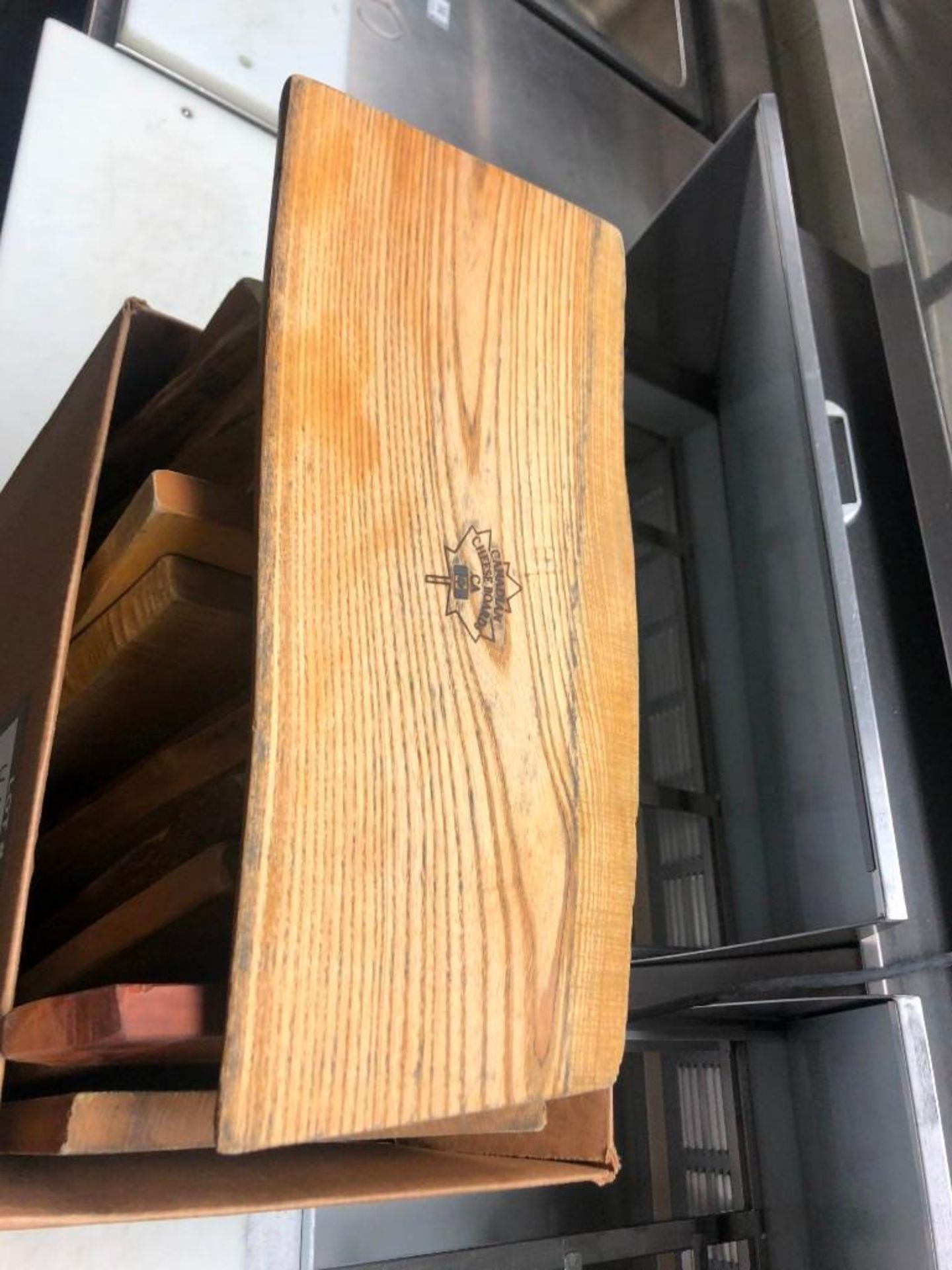 BOX OF HAND CRAFTED CANADIAN CHEESE BOARDS - Image 2 of 3