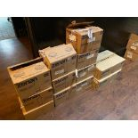 LOT OF (12) BOXES OF ASSORTED BRANDED GLASSES