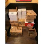 LOT OF (19) BOXES OF ASSORTED BRANDED GLASSES