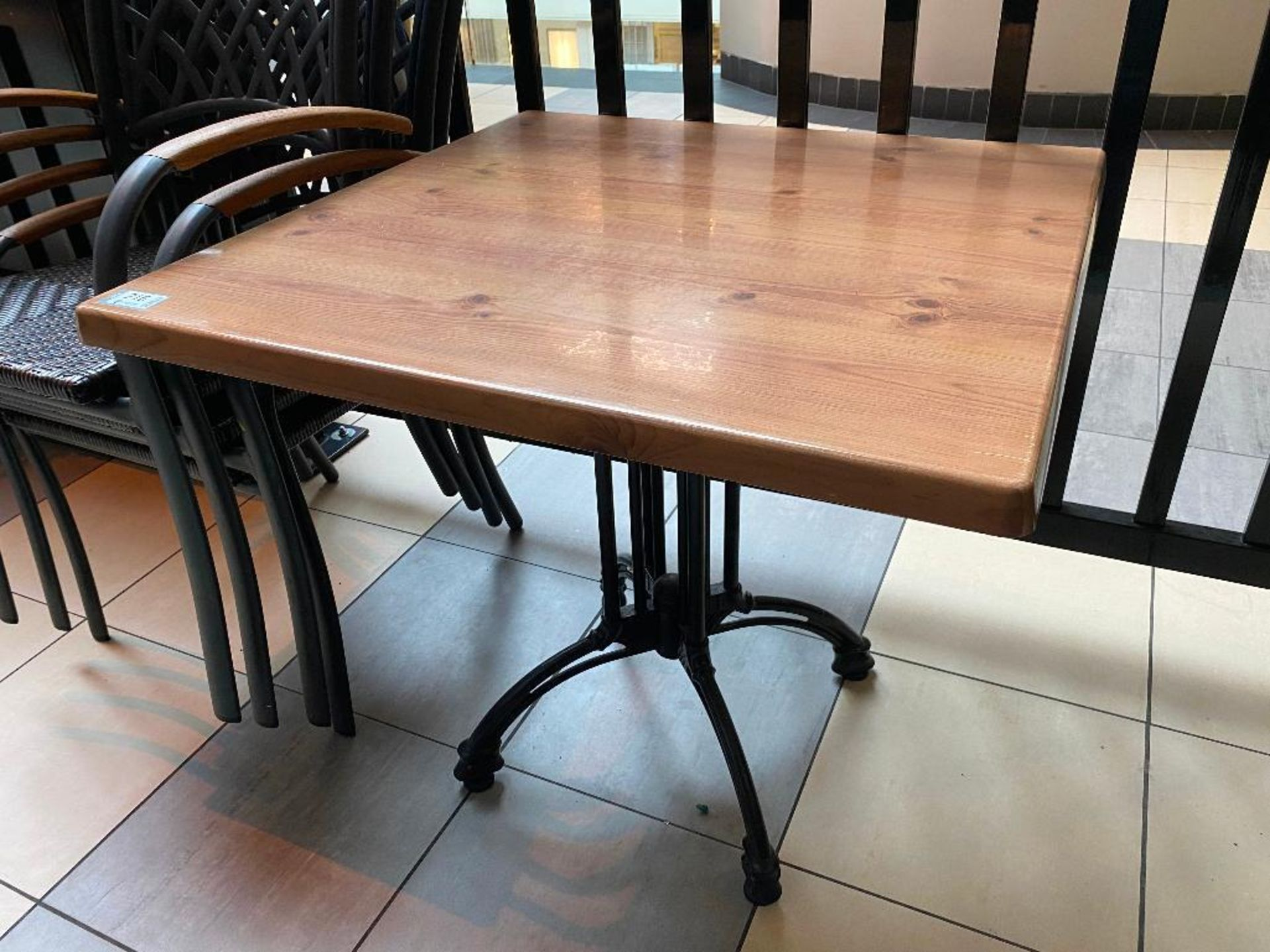 """TOPALIT 31"""" X 31"""" PATIO TABLE WITH 4 CHAIRS - Image 3 of 3"""