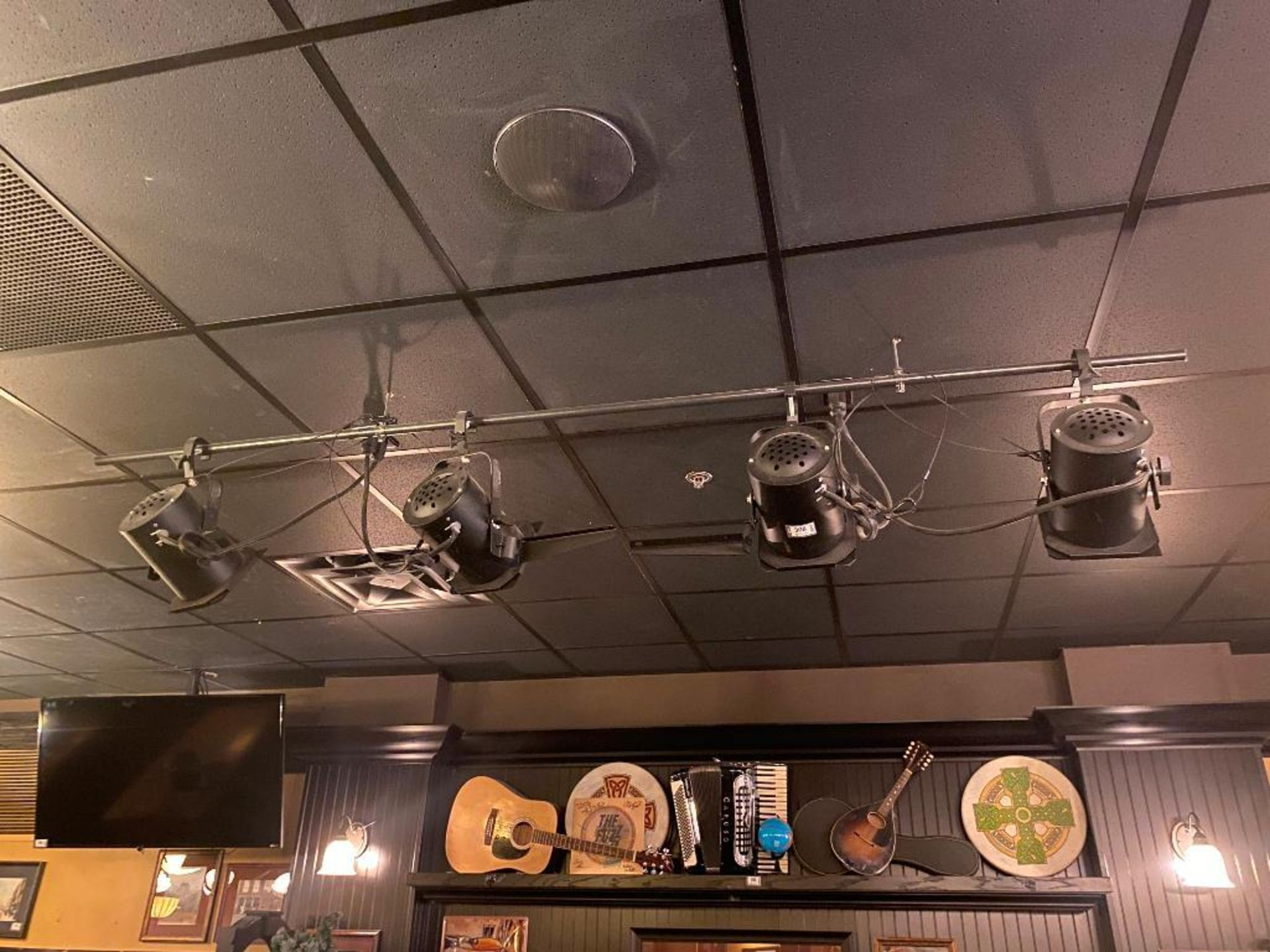LOT OF (4) STAGE LIGHTS - NOTE: REQUIRES REMOVAL FROM CEILING - Image 3 of 3