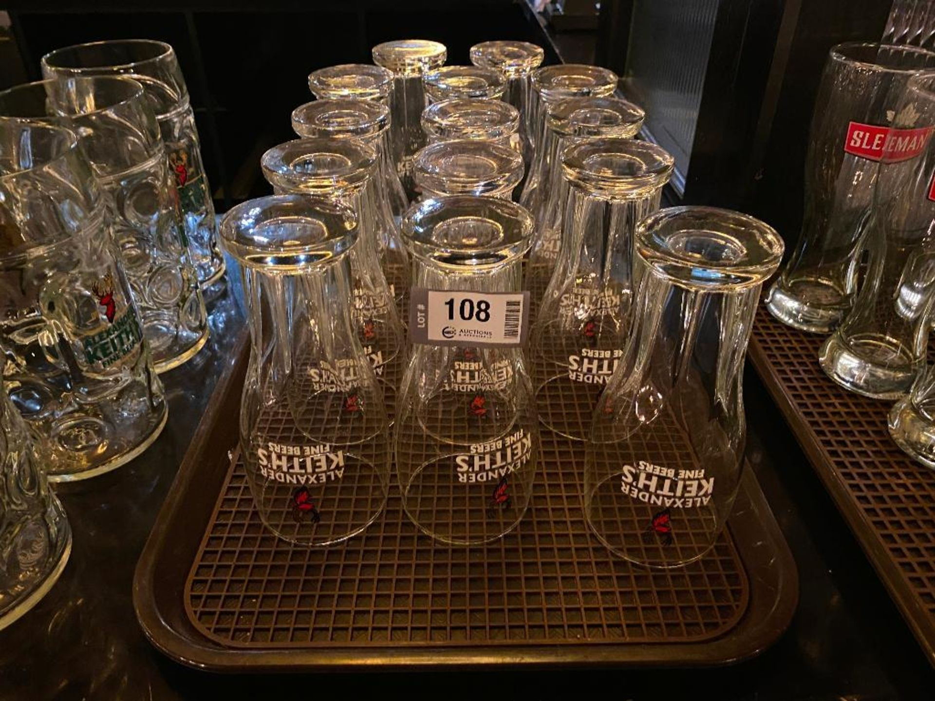 LOT OF (14) ALEXANDER KEITH'S PINT GLASSES