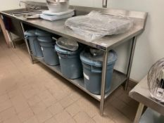 6' STAINLESS STEEL WORK TABLE WITH UNDERSHELF