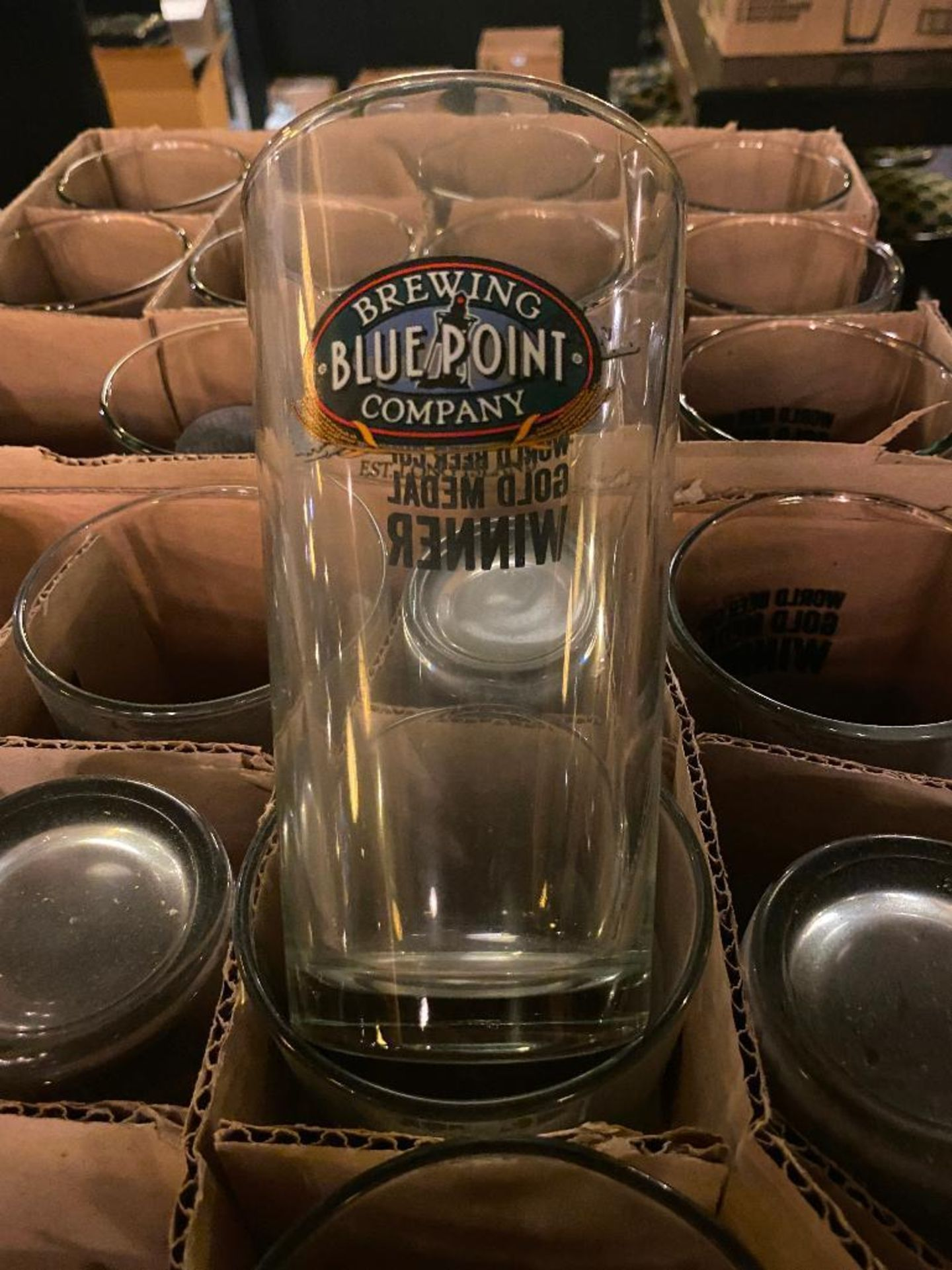 LOT OF (4) BOXES OF BLUE POINT BREWING GLASSES - Image 2 of 2