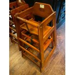 LOT OF (2) WOODEN HIGH CHAIRS