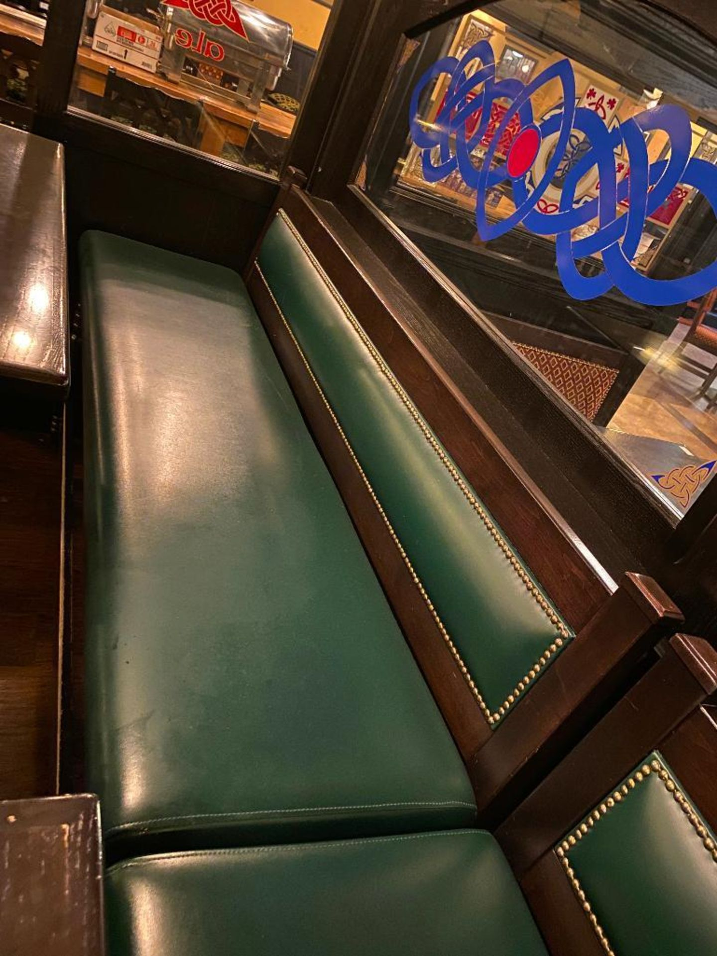 """RECTANGULAR BAR HEIGHT TABLE WITH 2 BAR HEIGHT CHAIRS & (1) 75"""" GREEN BAR HEIGHT BENCH - Image 5 of 5"""