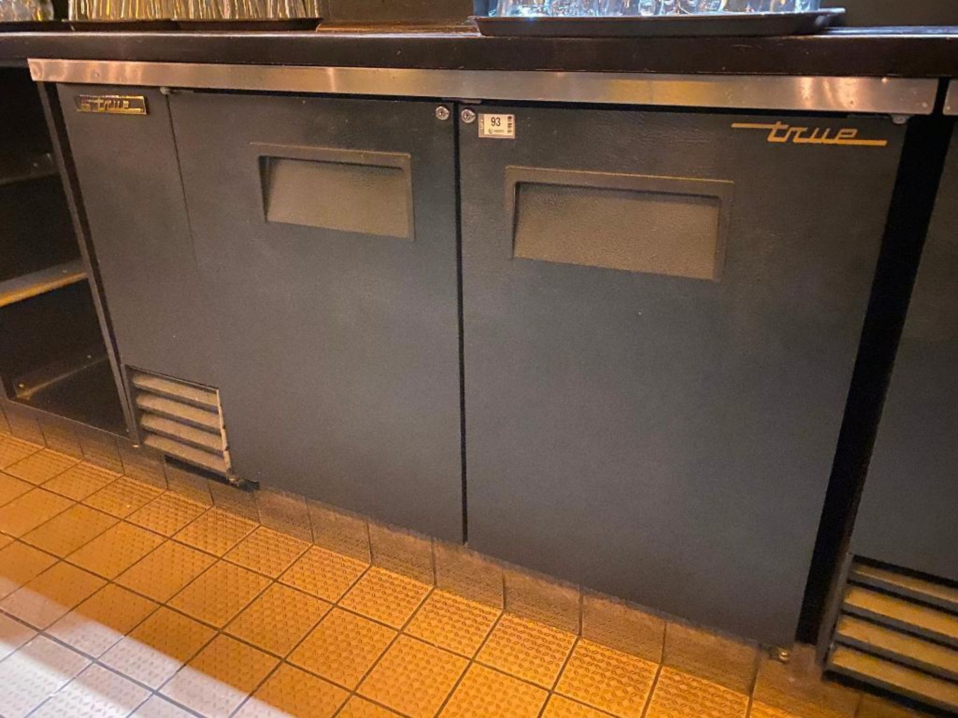 "TRUE TBB-2 59"" 2 DOOR SOLID BACK BAR REFRIGERATOR - NOTE: REQUIRES REMOVAL FROM UNDER BAR, PLEASE IN"