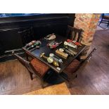 """SQUARE TOP WOODEN TABLE WITH 4 CHAIRS - 36"""" X 36"""" X 31"""""""