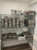 LARGE LOT OF ASSORTED SIZE STAINLESS STEEL INSERTS