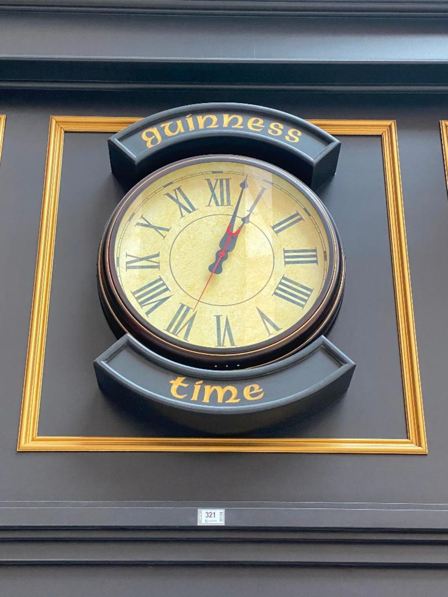 GUINNESS TIME WALL CLOCK - NOTE: REQUIRES REMOVAL FROM WALL, PLEASE INSPECT - Image 2 of 3