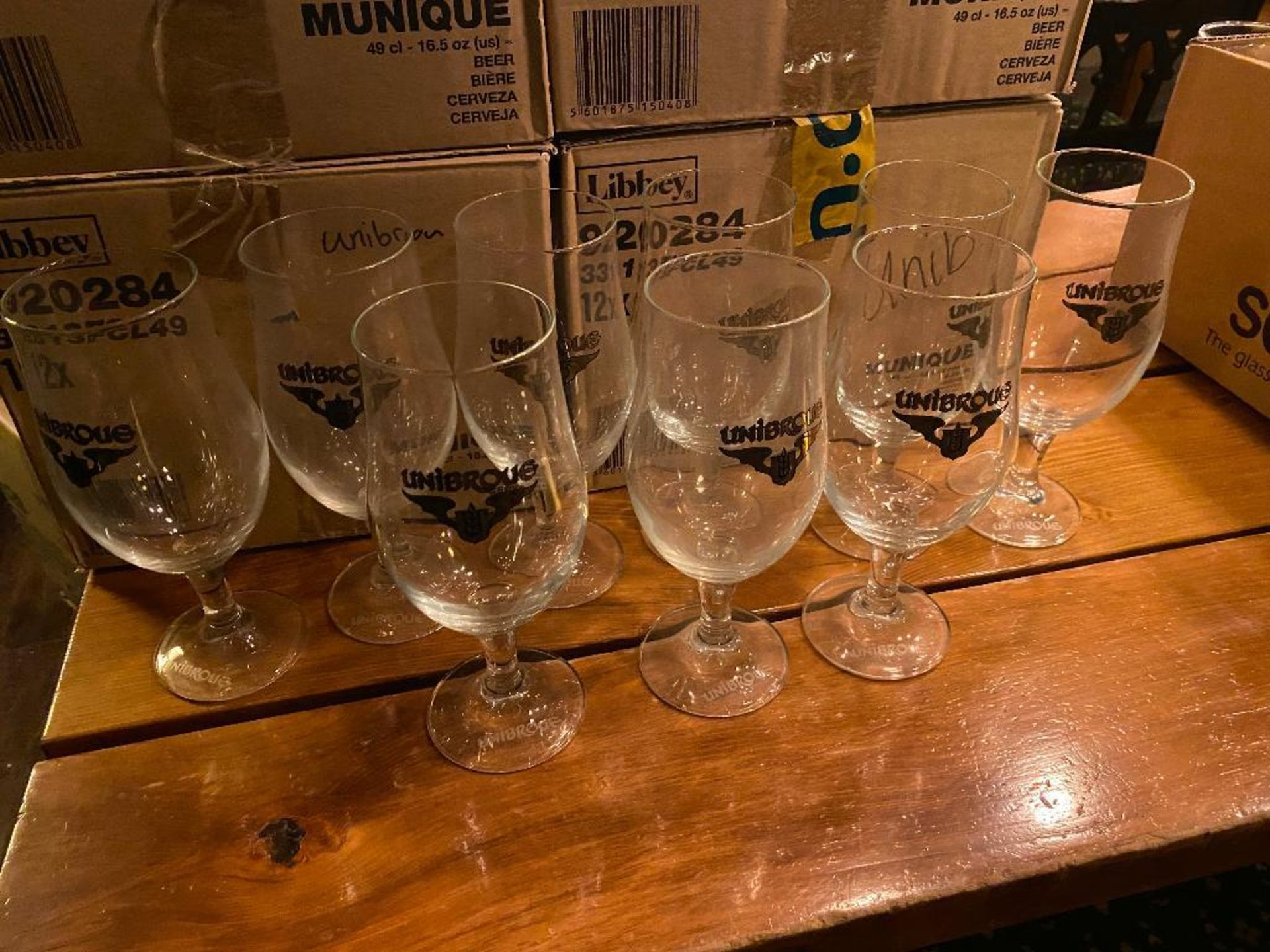 LARGE LOT OF UNIBROUE BEER GLASSES - Image 3 of 3