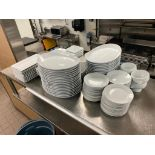 LOT OF ASSORTED DINNERWARE INCLUDING: PLATES, BOWLS, SOUP BOWLS