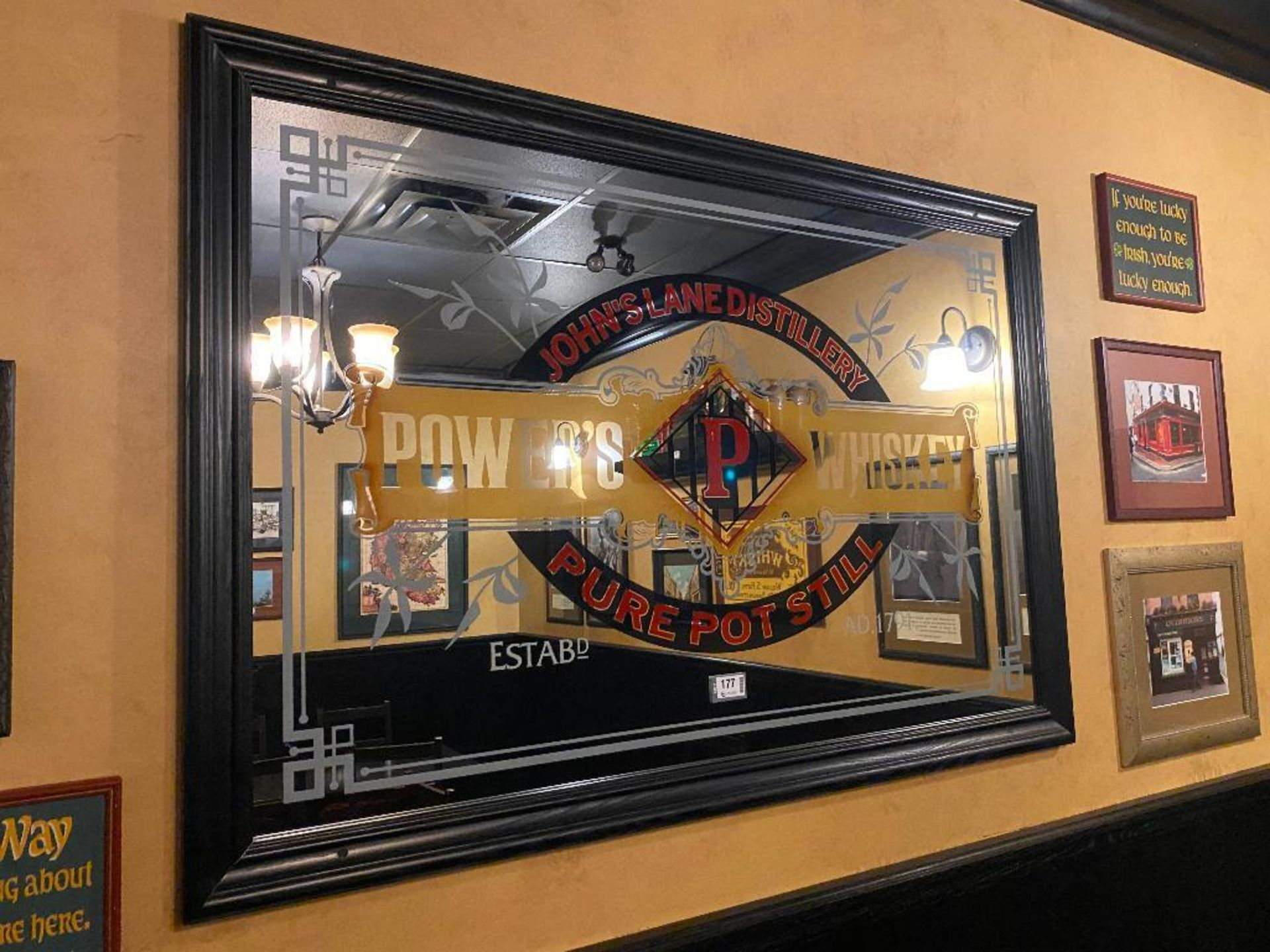 LOT OF (8) FRAMED MEMORABILIA PHOTOS & (1) JOHN'S LANE DISTILLERY MIRROR - NOTE: REQUIRES REMOVAL FR - Image 4 of 6