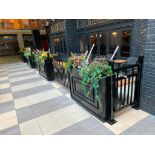 APPROX. 60' OF BLACK METAL RAILING & PLANTER - NOTE: REQUIRES REMOVAL FROM FLOOR, PLEASE INSPECT
