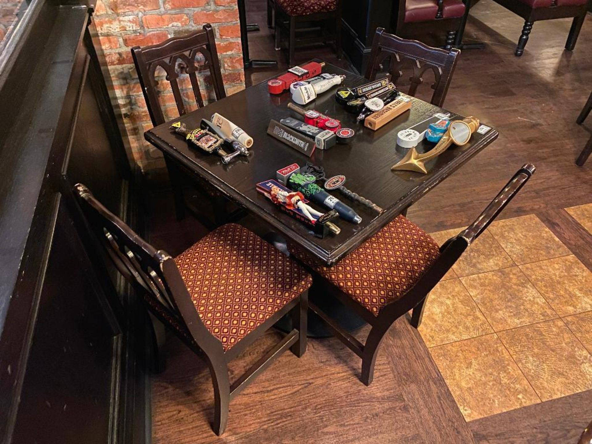"""SQUARE TOP WOODEN TABLE WITH 4 CHAIRS - 36"""" X 36"""" X 31"""" - Image 2 of 2"""