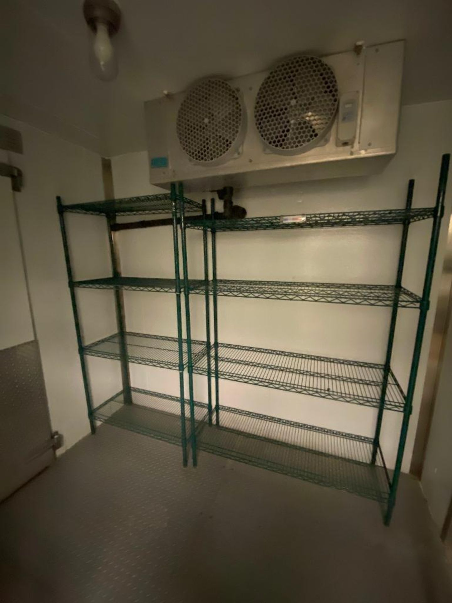 LOT OF (4) GREEN WIRE STORAGE RACKS, ASSORTED SIZES - Image 2 of 4