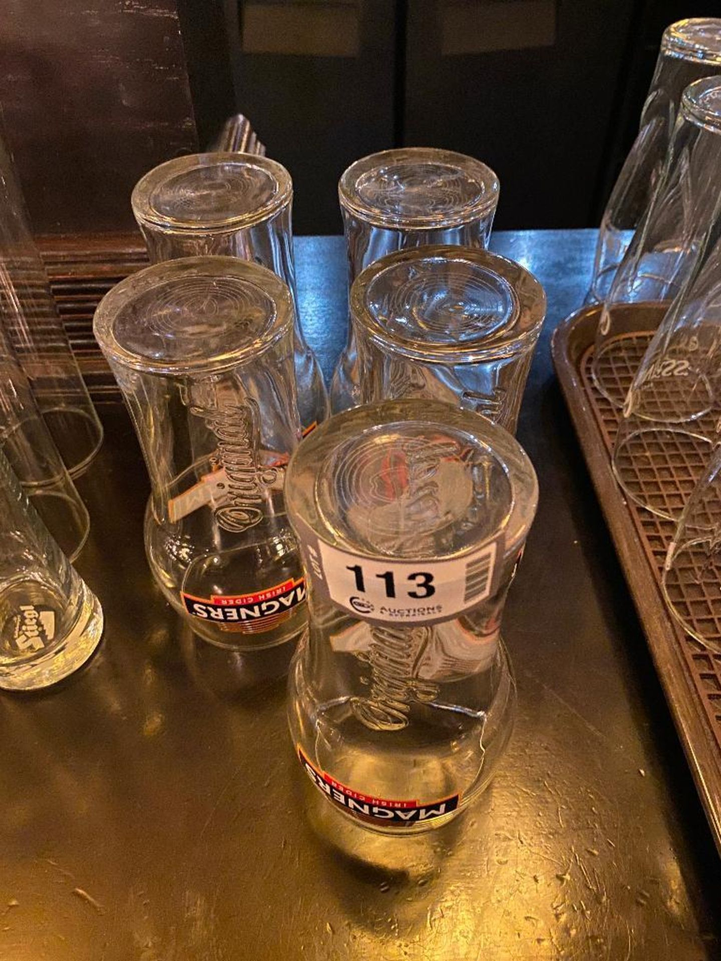 LOT OF (5) MAGNERS IRISH CIDER PINT GLASSES