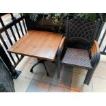 "TOPALIT 31"" X 31"" PATIO TABLE WITH 4 CHAIRS"