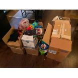 LARGE LOT OF PROMOTIONAL BRANDED ITEMS & SEASONAL DECORATIONS