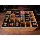 """BOX OF BUDWEISER """"RISE AS ONE"""" COLLECTOR GLASSES"""