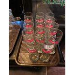 LOT OF (14) SLEEMAN PINT GLASSES