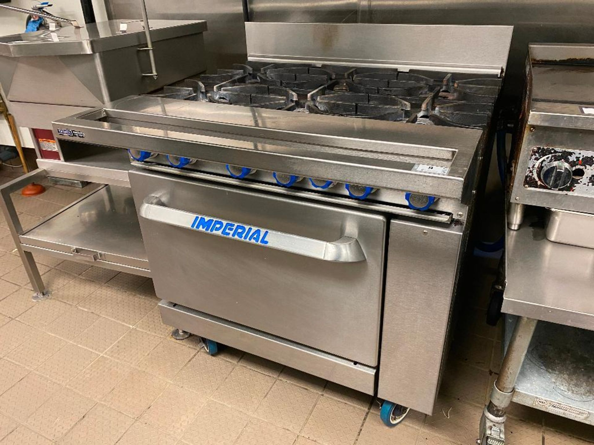 IMPERIAL 6 BURNER RANGE - NOTE: REQUIRES DISCONNECT, PLEASE INSPECT