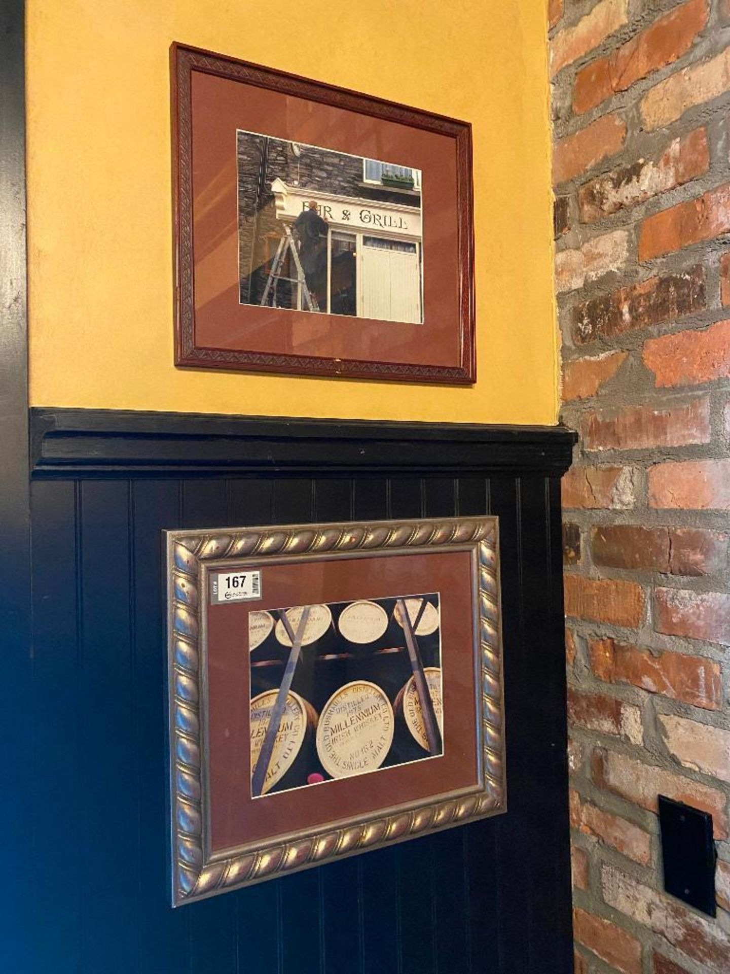 LOT OF (3) FRAMED MEMORABILIA PHOTOS & (1) METAL GUINNESS ADVERTISING SIGN - NOTE: REQUIRES REMOVAL - Image 2 of 2