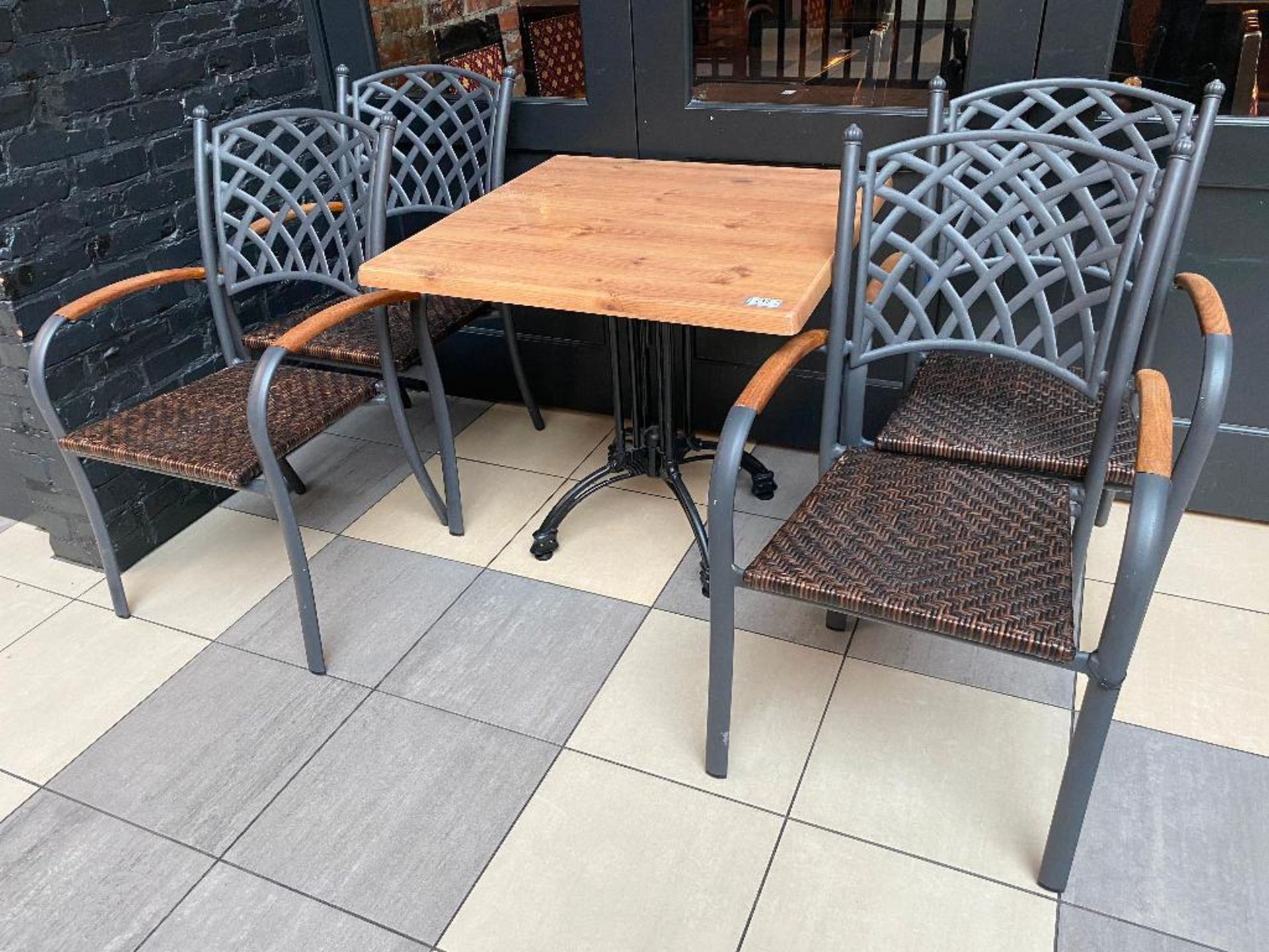 """TOPALIT 31"""" X 31"""" PATIO TABLE WITH 4 CHAIRS"""