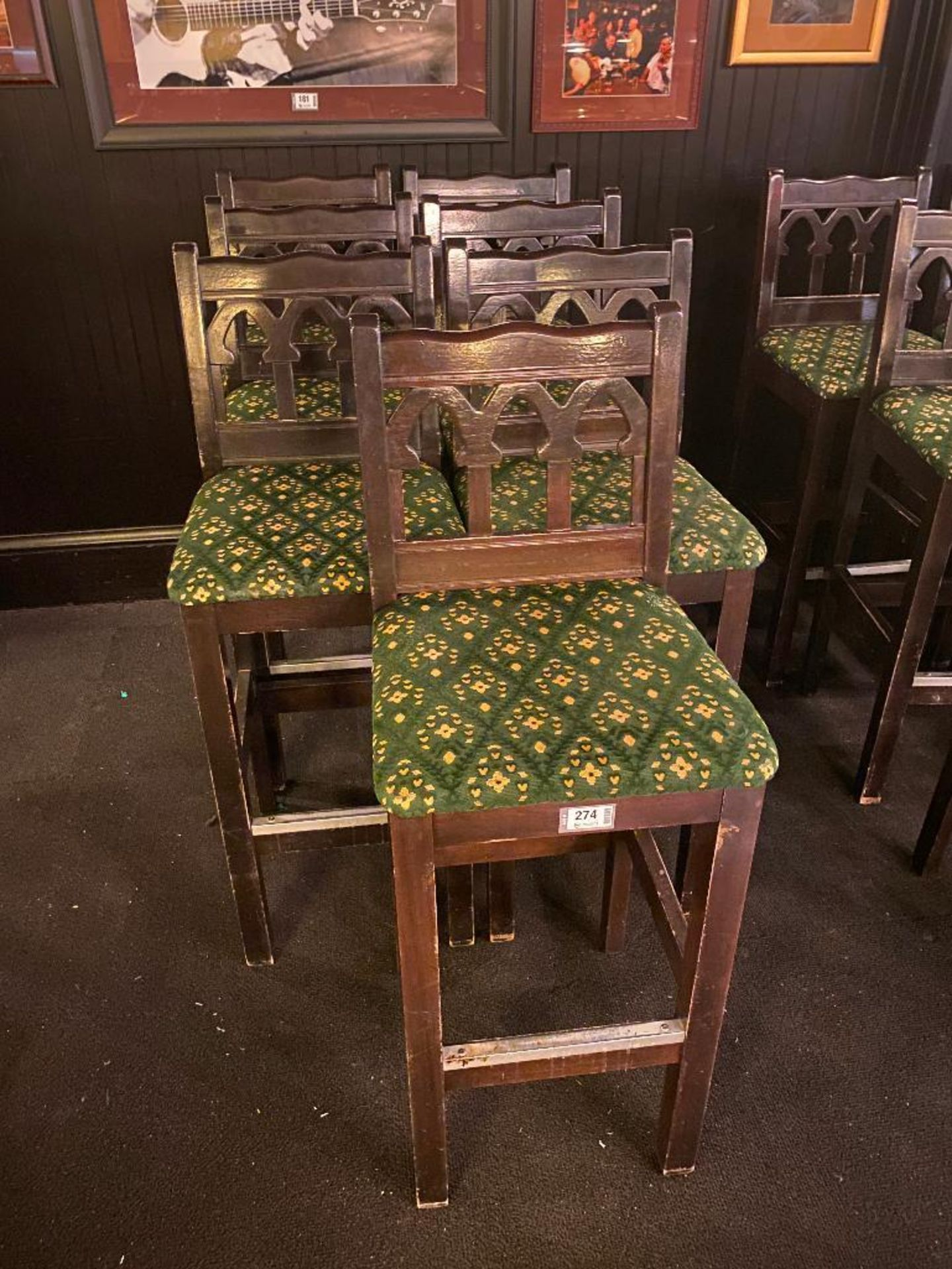 LOT OF (7) BAR STOOLS WITH BACKREST - Image 2 of 2