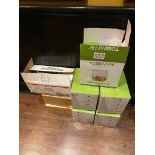 LOT OF (5) BOXES OF 12 OZ PLASTIC TUMBLERS & (2) BOXES OF PLASTIC GUINNESS GLASSES