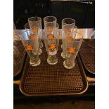 LOT OF (9) SHOCK TOP GLASSES