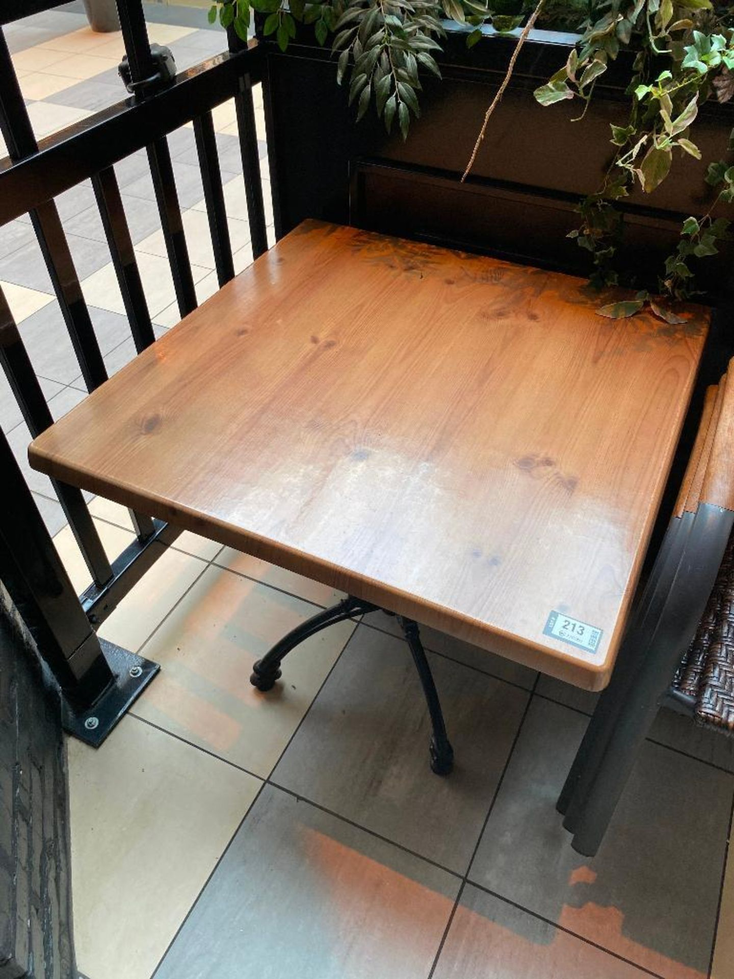 "TOPALIT 31"" X 31"" PATIO TABLE WITH 4 CHAIRS - Image 3 of 3"