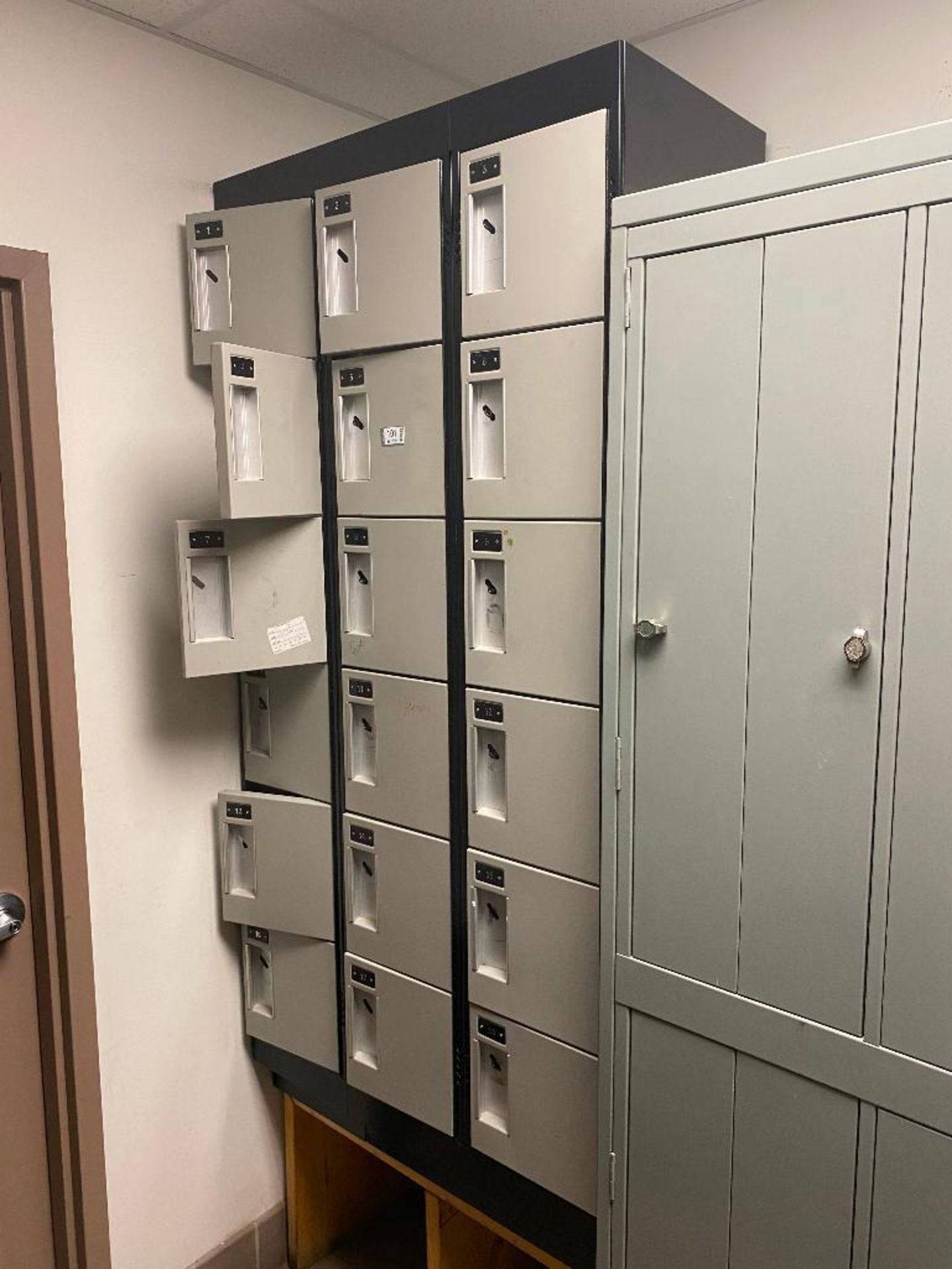"""18 SECTION CUBE LOCKERS - OVERALL: 36"""" X 18"""" X 72"""", LOCKER SIZE: 12"""" X 17"""" X 11"""" - Image 2 of 2"""